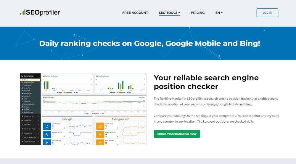 """SEOprofiler, skirtas patikrinti """"Google"""" raktinių žodžių rinkimus"""